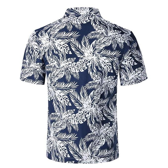 Mens Summer Short Sleeve Beach Hawaiian Shirt Cotton Casual Floral Shirts at Amazon Mens Clothing store: