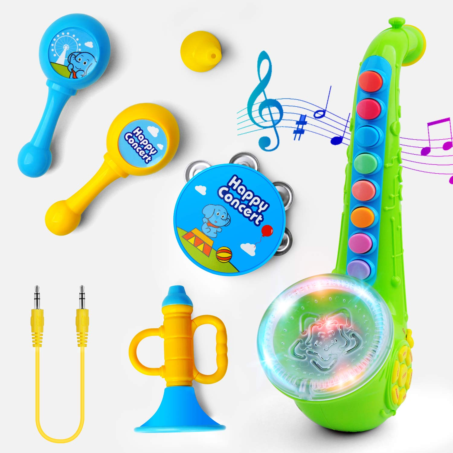 Gizmovine Music Toys for 2 Year Old Kids Musical Toys Toddler Musical Instruments Saxophone Shaking Bell Music Toys by Gizmovine