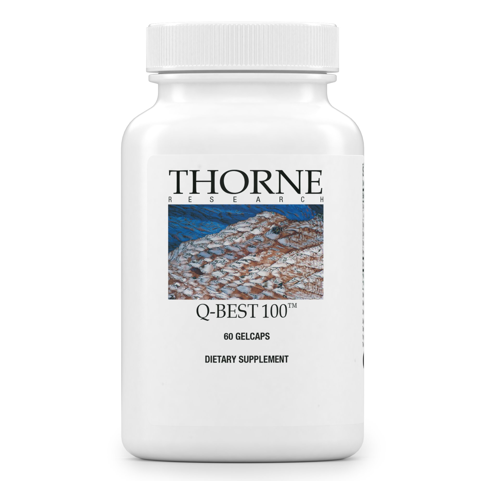 Thorne Research - Q-Best 100 - Patented Crystal-Free CoQ10 Supplement for Heart Health and Cellular Energy Production - 60 Gelcaps