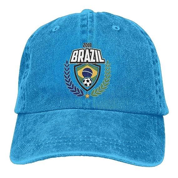 Presock Gorras De Béisbol 2018 Brazil Football Adult Cowboy ...