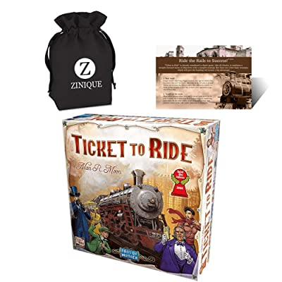 Ticket to Ride Board Game for Kids and Adults – Includes Ticket to Ride, Strategy Guide and Drawstring Storage Bag – Premium-Quality Board Game and Ideal Gift Set for Ultimate Fun: Toys & Games