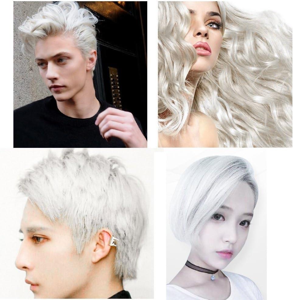 Crema de tinte de color blanco mate, peinado instantáneo, duradera, profesional, cera, 120 g, para hombres y mujeres, para fiesta, cosplay, discoteca, ...