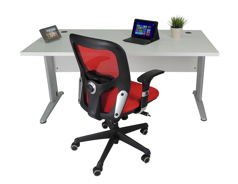 Mesa de Oficina. Euro 3000. Color Gris. 140x80 cm. Patas en T de ...