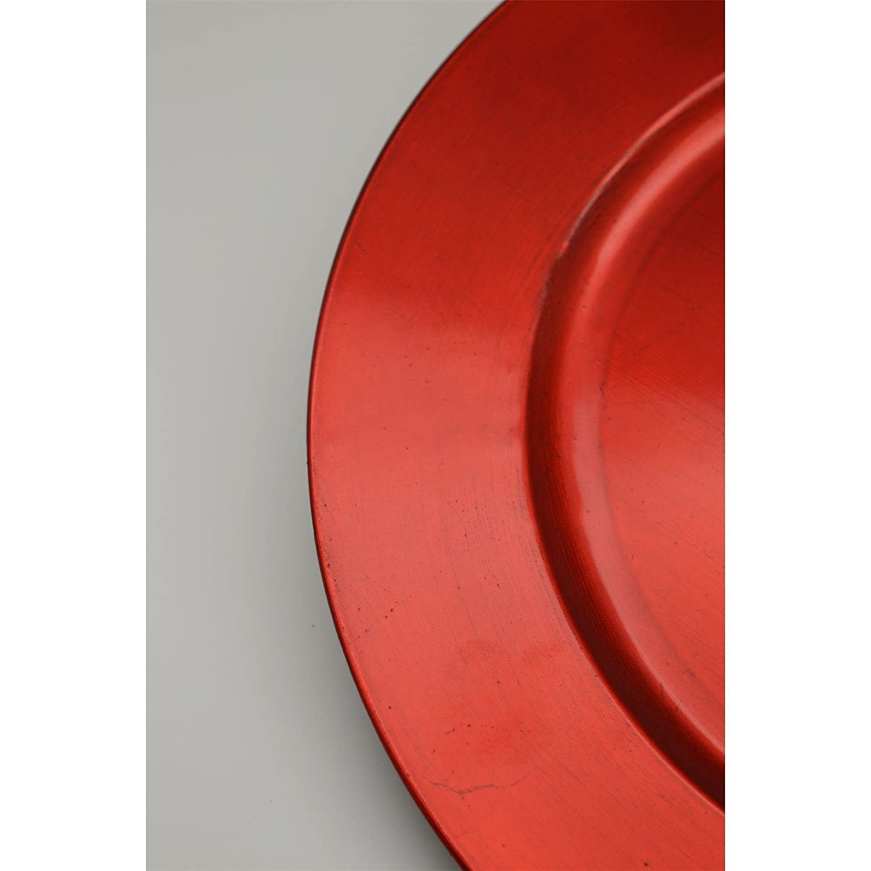 Platos de sitio rojos - 330mm - 6 unidades Argon Tableware Ampliar imagen b1cc42c5080a
