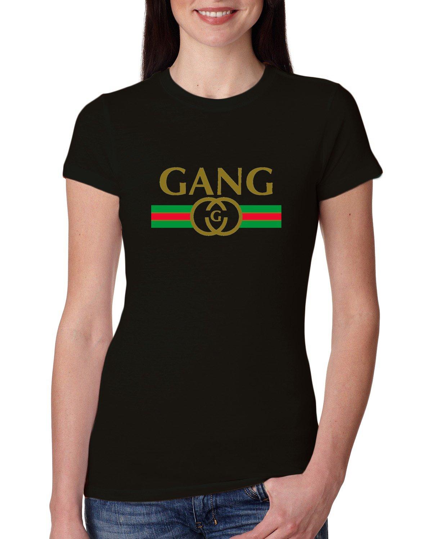 Gang Gucci Logo Parody Fashion Ts Shirts