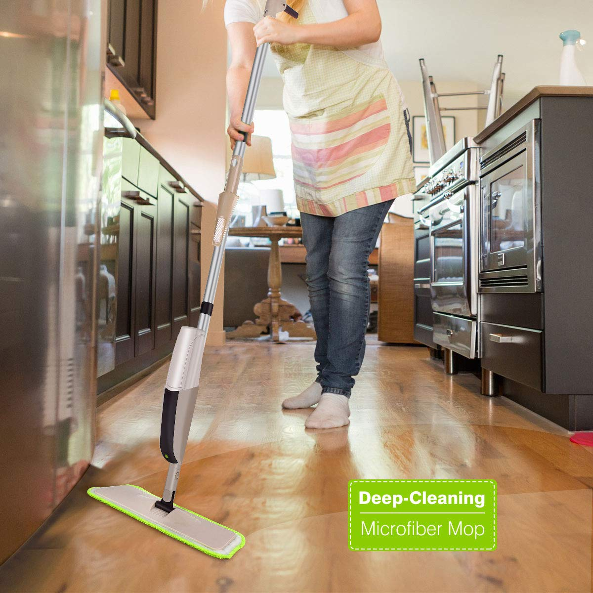 Hardwood Spray Mop for Floor Cleaning, CXhome Microfiber Mop for Tile Floors, Wet Dry Mop with Sprayer and 2 Mop Pads, 1 Refillable Bottle by CXhome (Image #7)