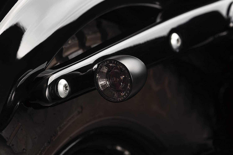 Front LED Running//Turn Signal//Blinker Light Chrome Kuryakyn 2552 Motorcycle Lighting Accessory: Kellermann Bullet 1000 PL Pack of 1 White//Amber