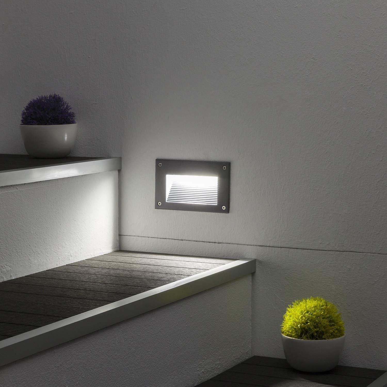 LEDKIA LIGHTING Baliza LED Mystic Acabado Gris 3W Blanco Frío 6000K: Amazon.es: Iluminación