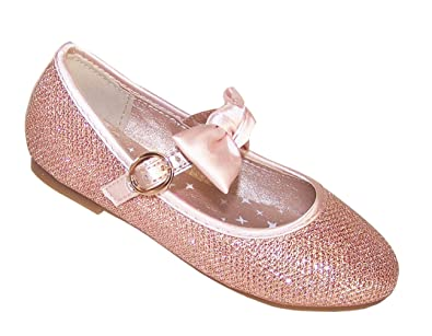 ce82e171ca9f The Sparkle Club Girls Gold Glitter Ballerina Party Flower Girl Children s  Sparkly Dress Shoes Size 10