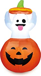 Joiedomi Halloween 5 FT Inflatable Ghost in Pumpkin with Build-in LEDs Blow Up Inflatables for Halloween Party Indoor, Outdoor, Yard, Garden, Lawn Decorations