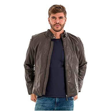 VELEZ Mens Stunning Genuine Colombian Leather Bomber Zip up Jacket Motorcycle Biker Jacket | Chaquetas de