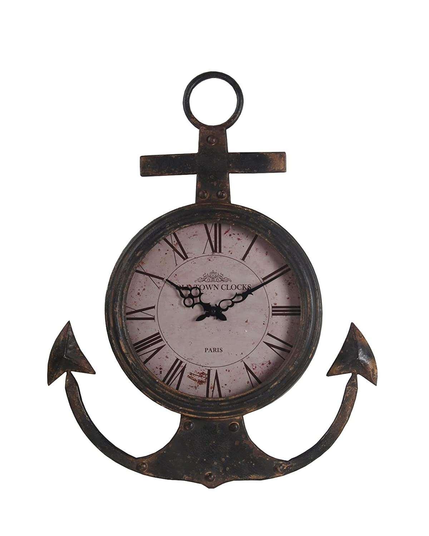Amazon privilege 25036 wall anchor coastal clock gray amazon privilege 25036 wall anchor coastal clock gray medium home kitchen amipublicfo Images