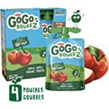 GoGo squeeZ Squeezable Unsweetened Applesauce Pouches, Apple Flavour, Nut-Free Fruit Snack for Kids, 360 Grams, 4…