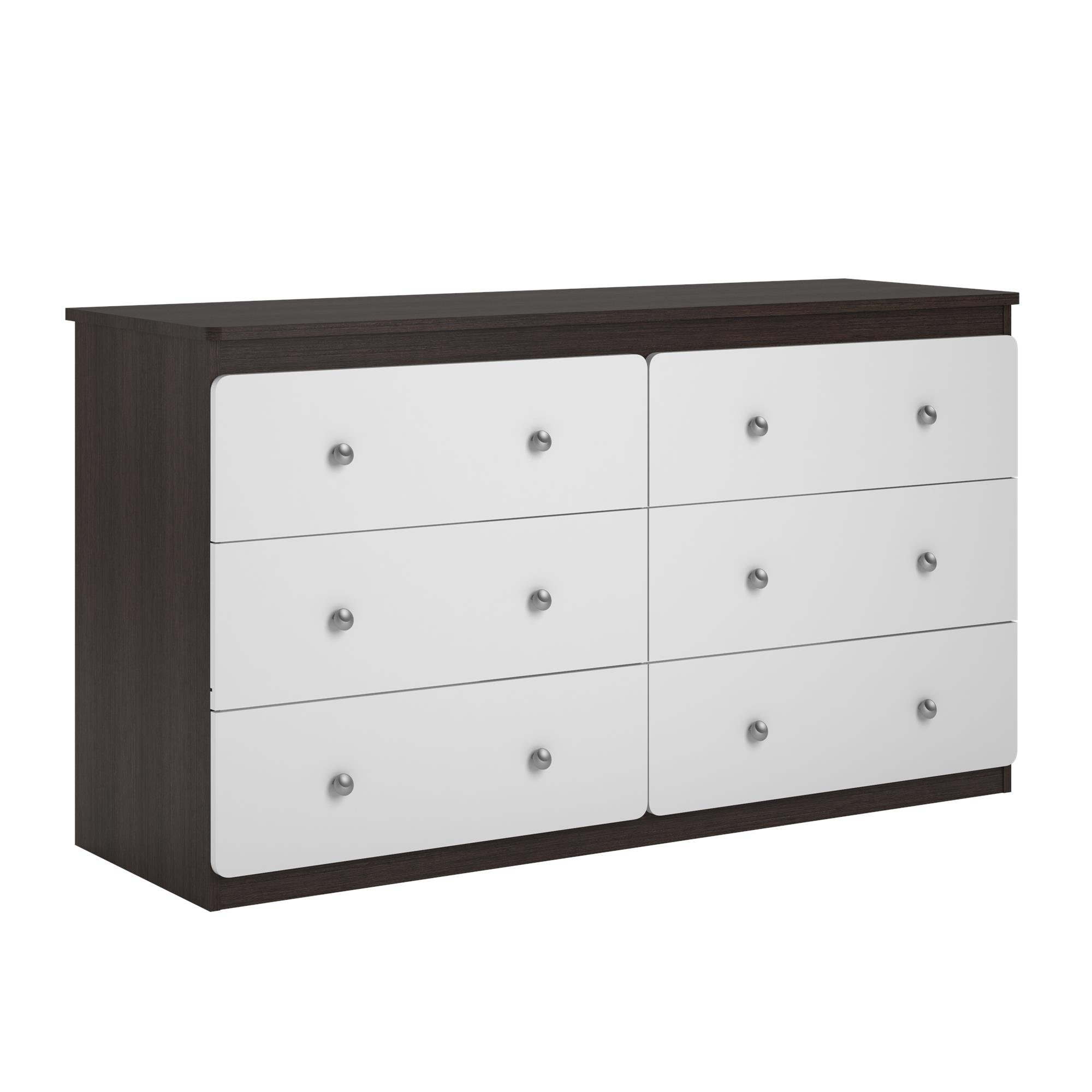 Ameriwood Home Willow Lake 6 Drawer Dresser, Espresso