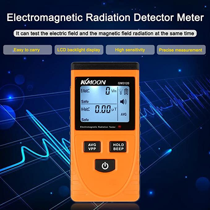 KKmoon Digital LCD Electromagnetic Radiation Detector Meter Dosimeter Tester Counter - - Amazon.com