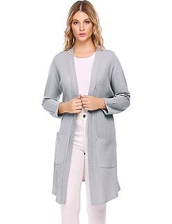 5988446438 Beyove Damen Strickjacke Cardigan Wasserfall Asymmetrisch Strickmantel  Pullover Sweatshirt