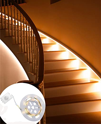 Motion activated rechargeable bed light under cabinet lighting flexible led strip sensor automatic night light