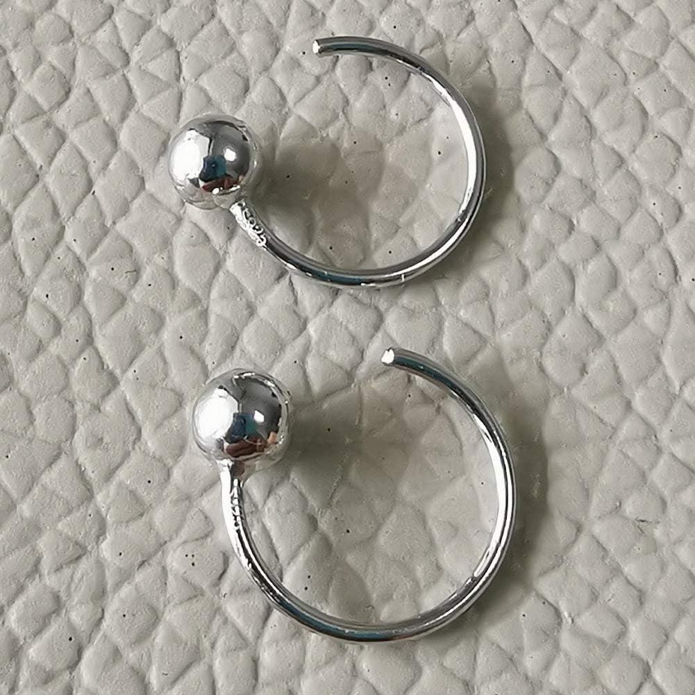 Boule de 4 mm Petites boucles doreilles /à tige en argent sterling hypoallerg/éniques pour lobe de cartilage