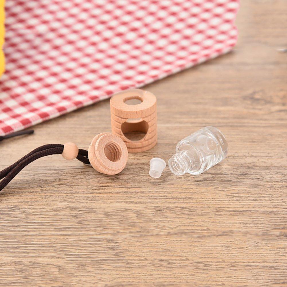 Lufterfrischer Für Das Auto Leer Holz Glas Flasche Hängende Dekoration Zufällige Farbe Rycnet Beauty