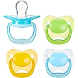 Amazon Brand - Mama Bear Baby Pacifier, Stage 1 (0-6M), BPA Free, Assorted Colors (Pack of 4)