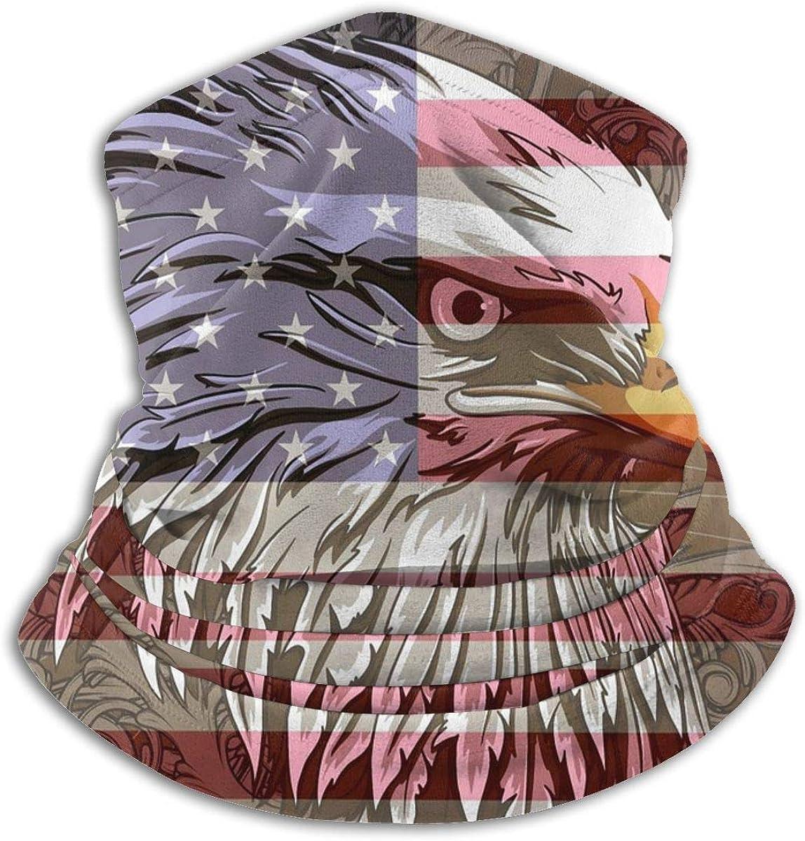 American Eagle Flag Sun Protección contra el polvo UV Bandana a prueba de viento Mascarilla Cuello Polaina Bufanda mágica Pasamontañas Cubierta de la cara Bufanda