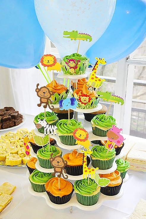 SPECOOL Animales Cupcake Toppers Decoración Tarta de Niños ...