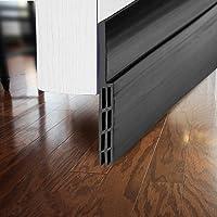 "BAINING Silicone Door Draft Stopper 39 inches Under Door Bottom Seal Strip Sweep for Doors 1"" Gap Stop drafy air Blocker…"