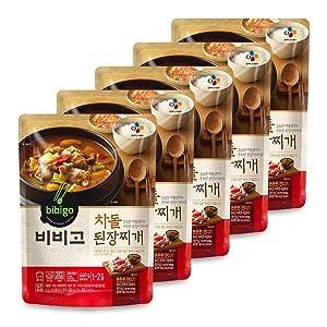 [ 5 Packs ] CJ Bibigo Korean chadol doenjang jjigae 차돌된장찌개 460g