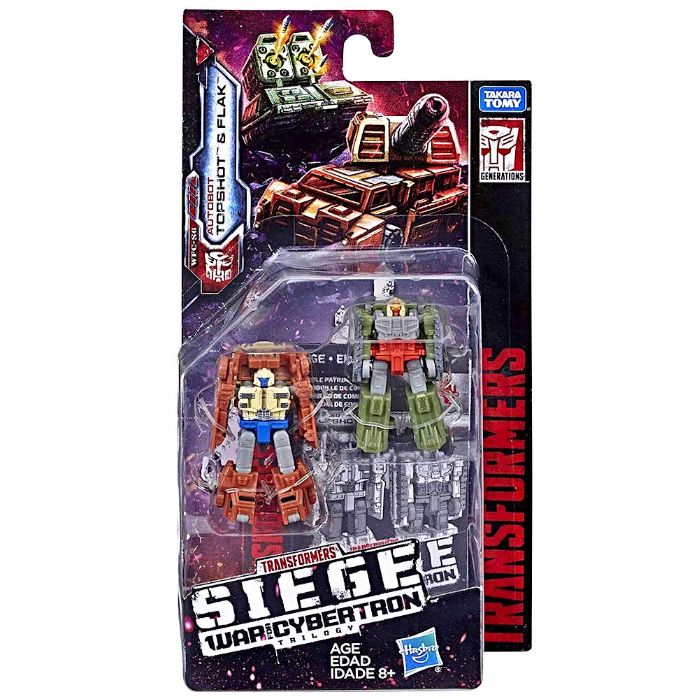 amazon com topshot \u0026 flak siege transformer action figures 2\