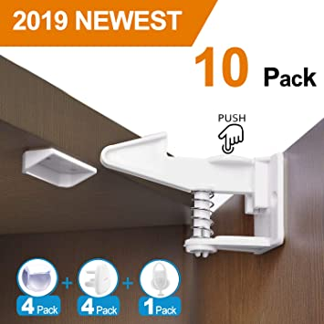 710deb38e548e Amazon.com   Cabinet Locks Baby Proofing Child Safety Cabinets Locks 10  Packs