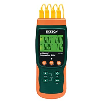 amazon com extech sdl200 nist four channel thermometer sd logger