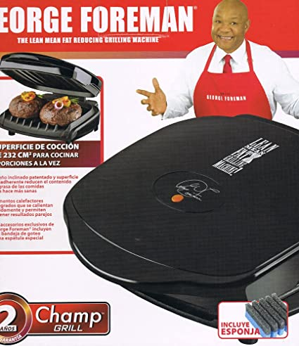 Home Kitchen Countertop Portable Personal Electric Contact Champ Grill - The Lean Mean Fat Reducing Grilling