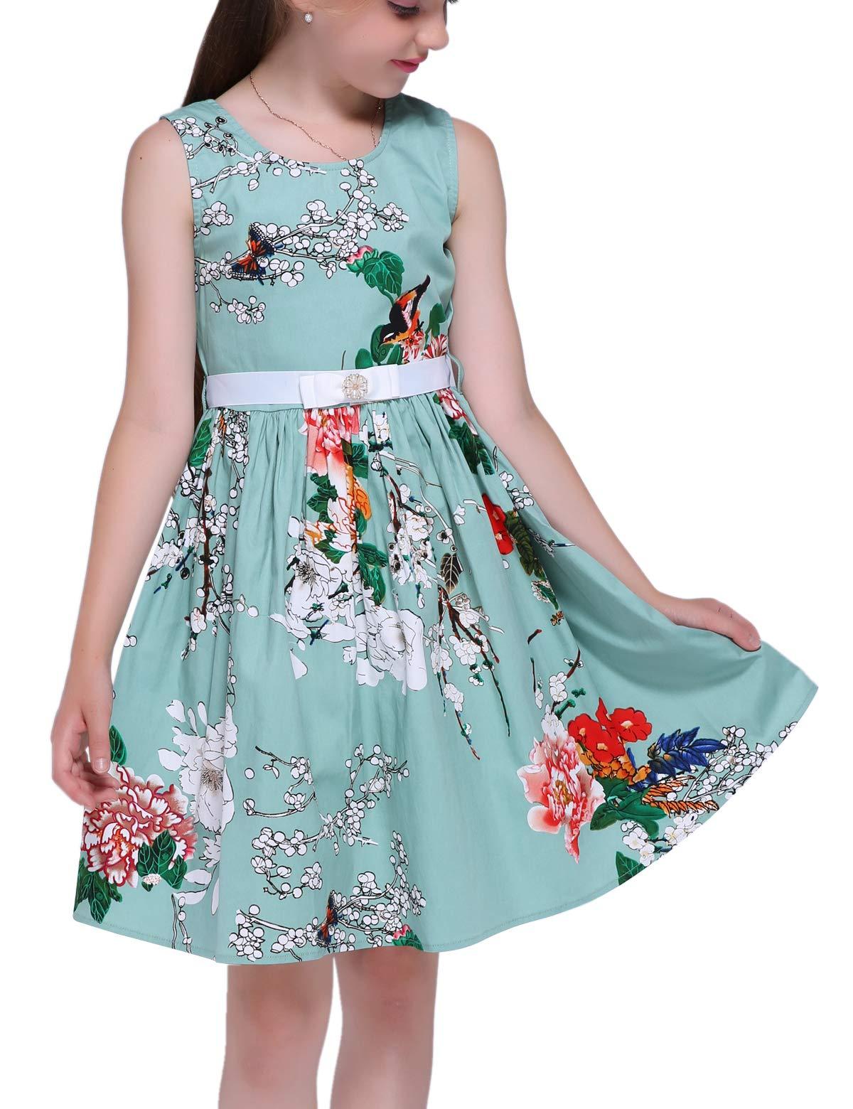 Vestidos Elegantes Para ninas Multi Colored Dress for Kids,f6,60''/12-13 Years(Size 160)