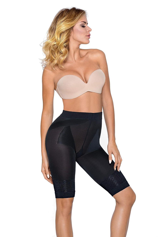 Made In Italy ohne Seitenn/ähte Envie/® Damen Mid-Waisted Shapewear Shorts Miederpants figurformend und hochtailliert f/ür einen flachen Bauch Taille Po und Oberschenkel