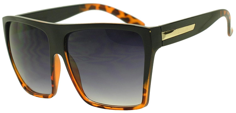 Sunglass Stop - Extra Large Square Retro Flat Top Oversized Aviator Sunglasses