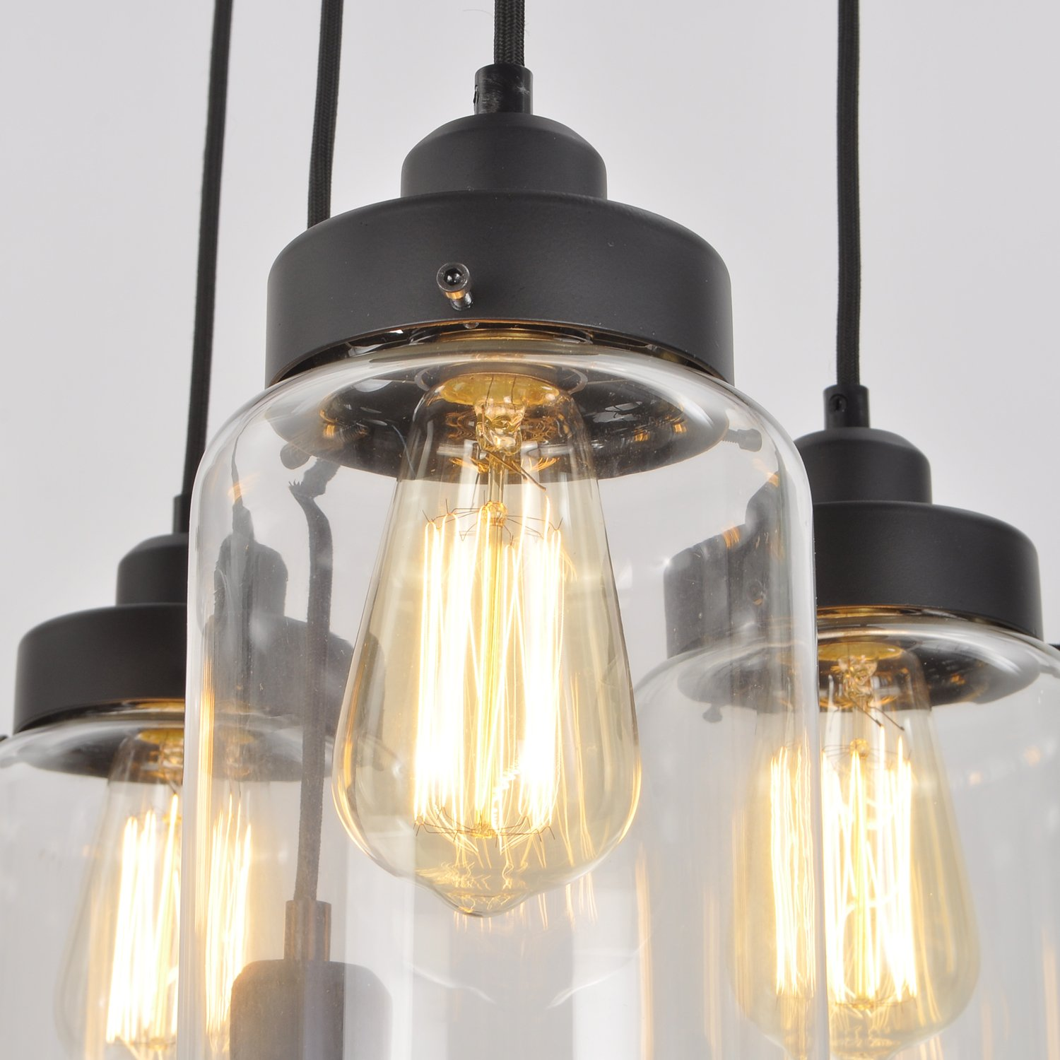 vintage lighting pendants. UNITARY BRAND Vintage Large Glass Jar Pendant Light Max 300W With 5 Lights Painted Finish - Amazon.com Lighting Pendants O