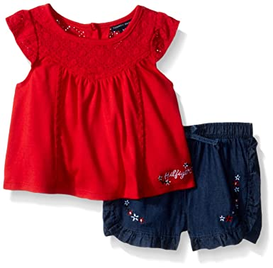 c082f876 Amazon.com: Tommy Hilfiger Baby Girls Shorts Set: Clothing
