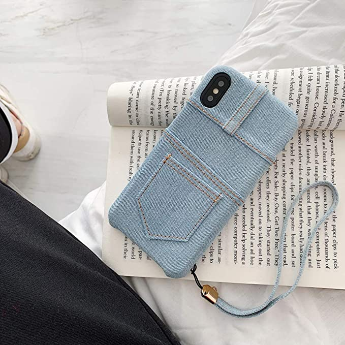 Amazon.com: UnnFiko Jean - Funda con tarjetero para iPhone 7 ...