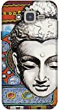 The Racoon Grip printed designer hard back mobile phone case cover for Samsung Galaxy J2. (Buddhist T)