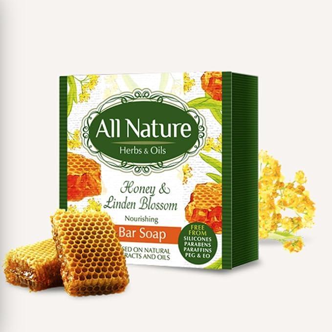 Todos los naturaleza Nutritivo miel & Linden Bar Jabón ...