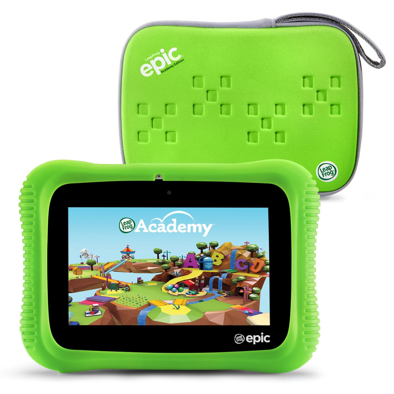 LeapFrog Epic Academy Edition 7'' Android 2.0 Based Kids Tablet 16GB with Carrying Case, Green