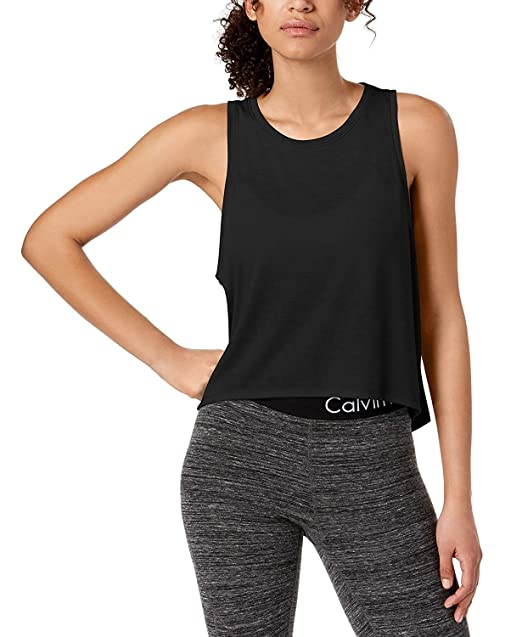 2bb8cf957253d Image Unavailable. Image not available for. Color  Calvin Klein Women s  Performance Epic Knit High-Low Tank Top ...