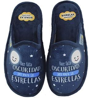 Biorelax by Zapattu - Zapatillas de Casa Mujer Hace Falta Oscuridad para Ver Las Estrellas