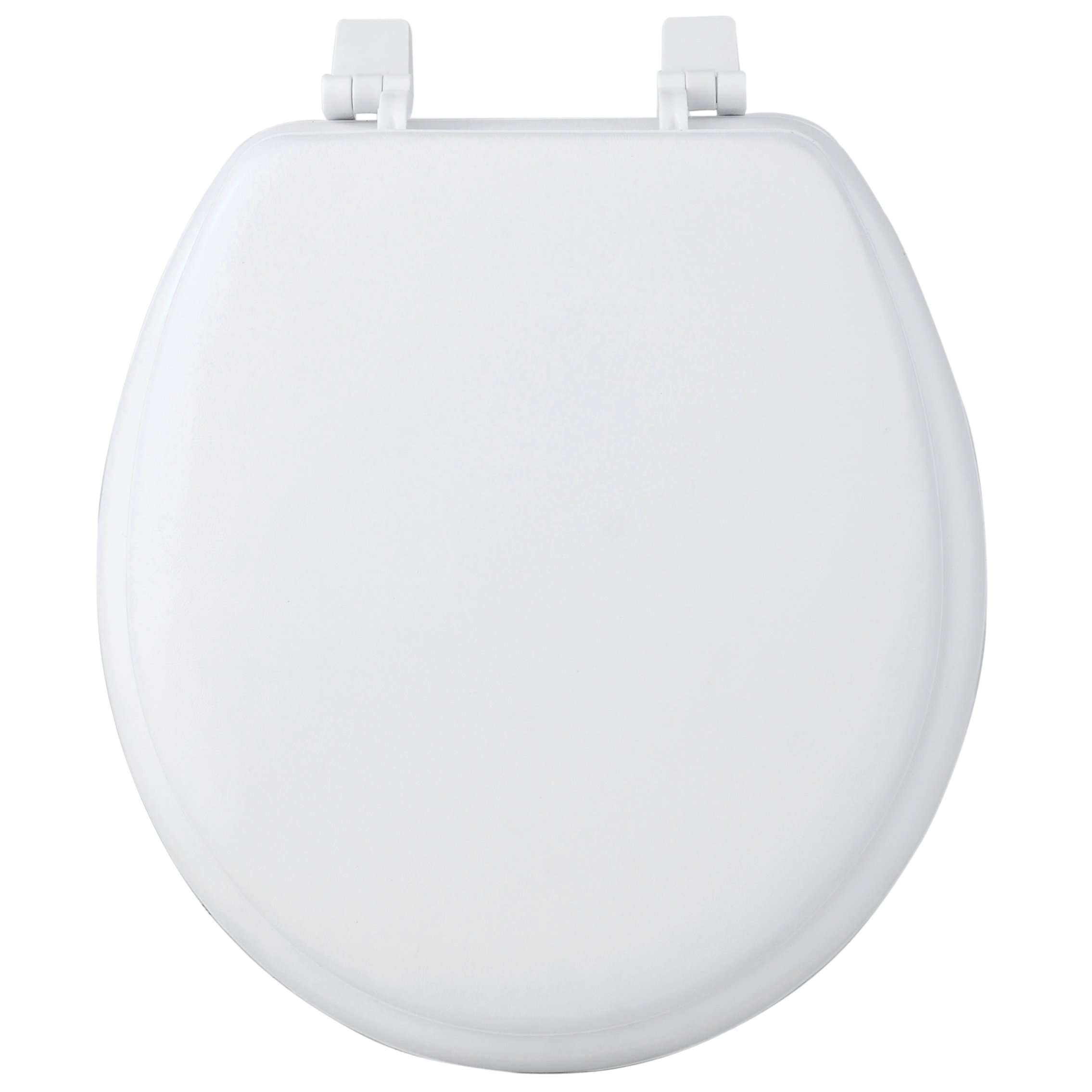 Sweet Home Collection Padded 17'' Round Soft Vinyl Foam Cushioned Toilet Cover, 17'' x 3'', White