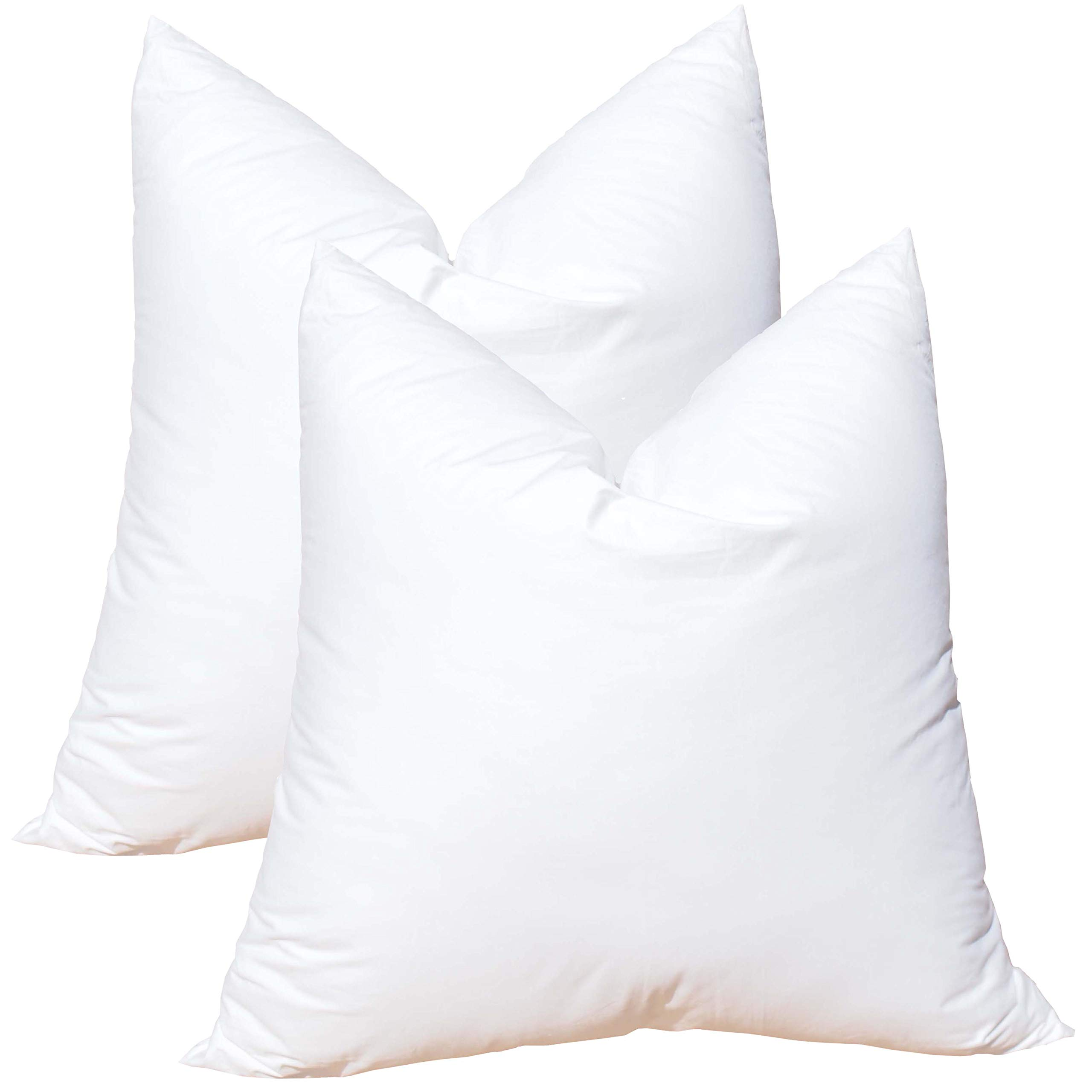 Pillowflex Synthetic Down Alternative Pillow Inserts for Shams (Set of 2 28 Inch by 28 Inch)