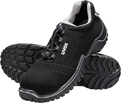 Uvex Chaussures de Sécurité Basse Motion Style S1 SRC | Basket de Travail Embout de Protection des Orteils en Acier Robuste | Semelle Antidérapante