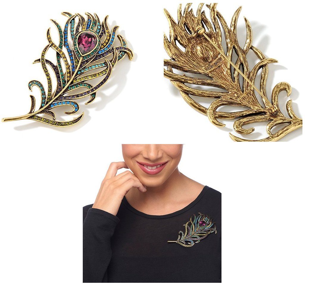 Heidi Daus Pretty as a Peacock Pin Gorgeous Beautiful Gift, Must Have!!! by Heidi Daus (Image #1)