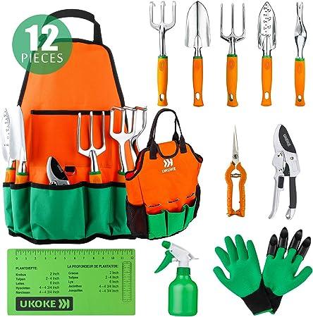 Amazon Com Ukoke Garden Tool Set 12 Piece Aluminum Hand Tool