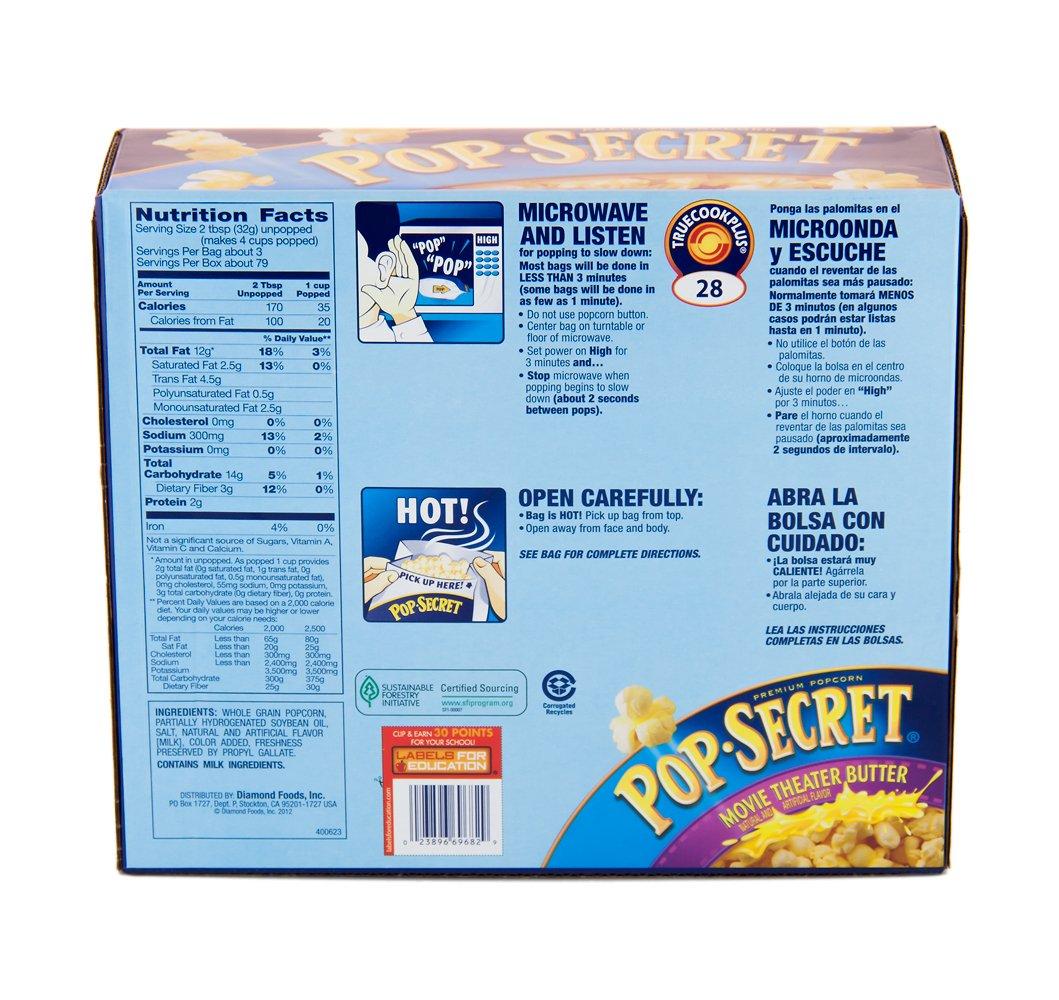 Amazon Com Pop Secret Movie Theater Butter Popcorn 28 Count 3 2 Ounce Bags