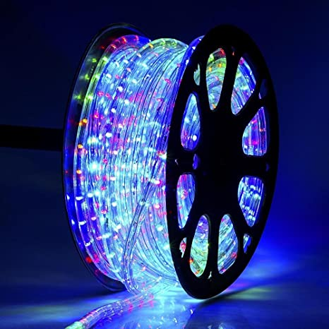 reputable site e81d2 2f7ef JS ULTRA SYSTEM LED Silicon Strip Rope Light SMD Roll Super Thin 3014  (Multi, 50 m)
